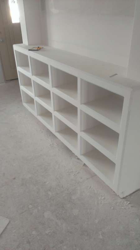 open shelves painted
