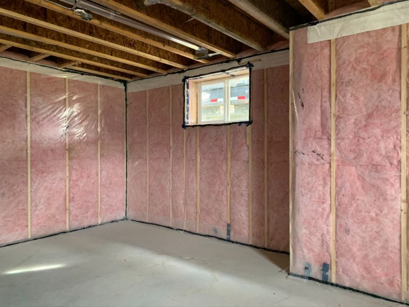 installed wall insulation
