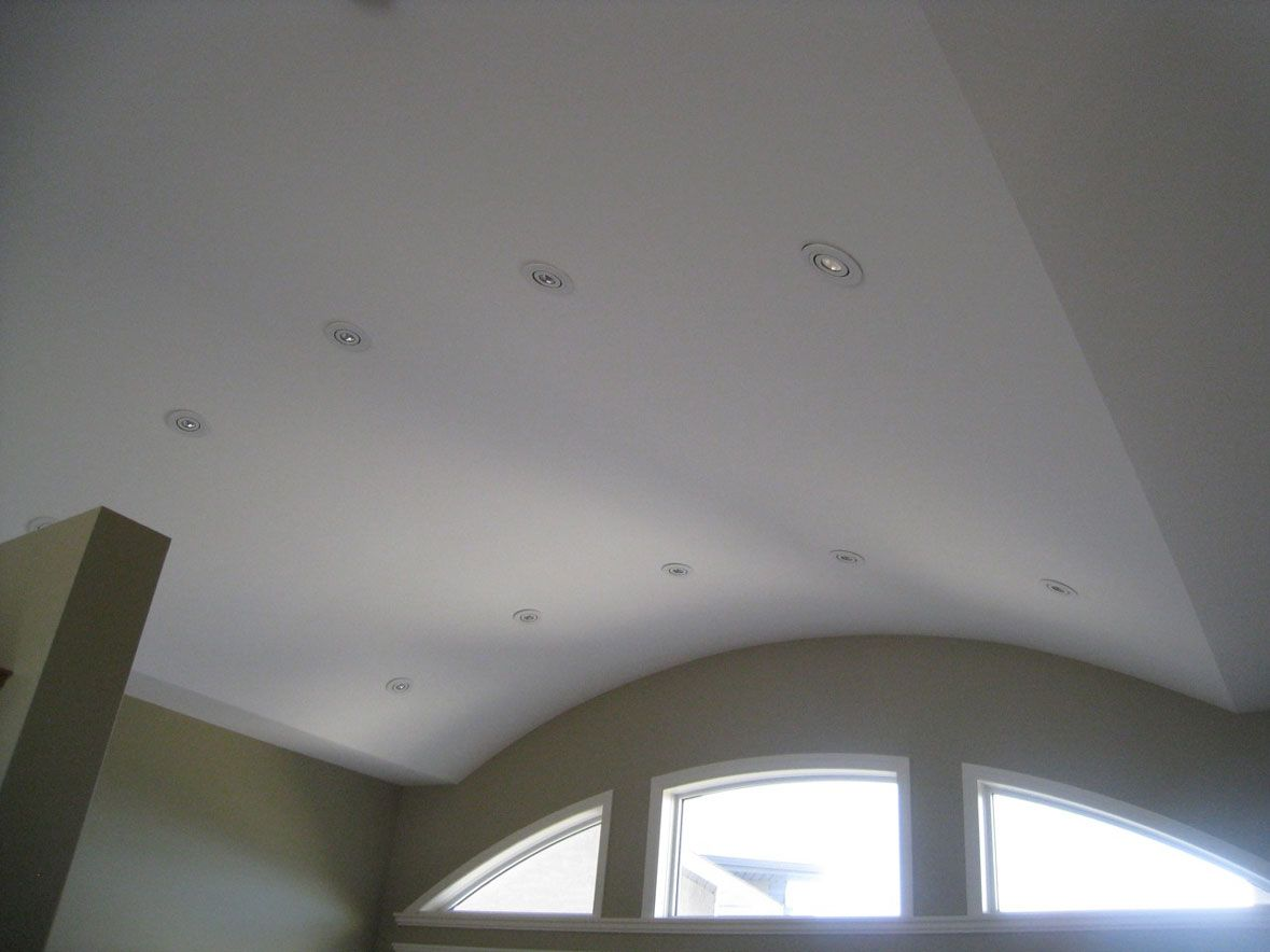 newly painted ceiling