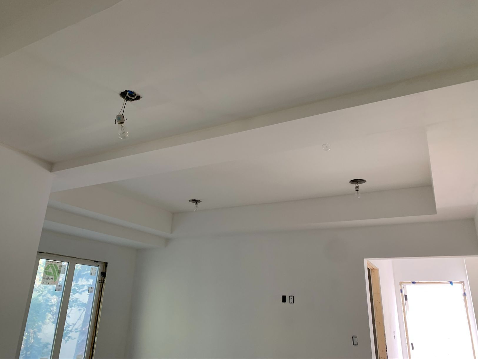 walls and ceiling painted white