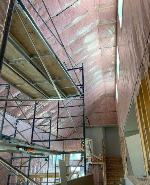 installation of ceiling insulation