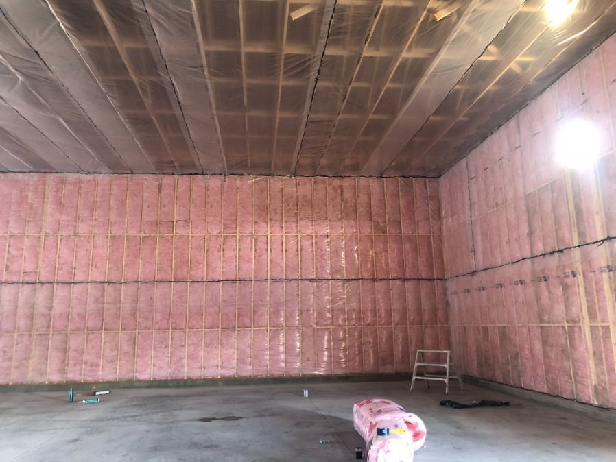 view of insulated walls