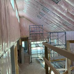 insulation installed in a building