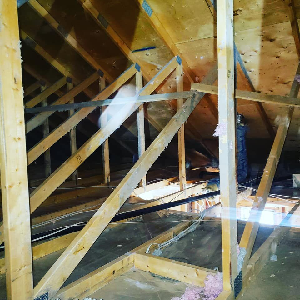 view of an attic