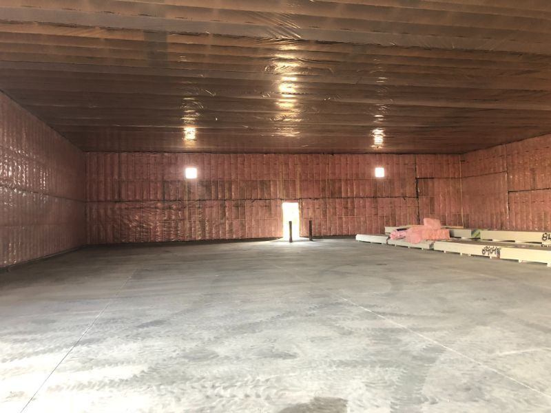 installed insulation on wall and ceiling